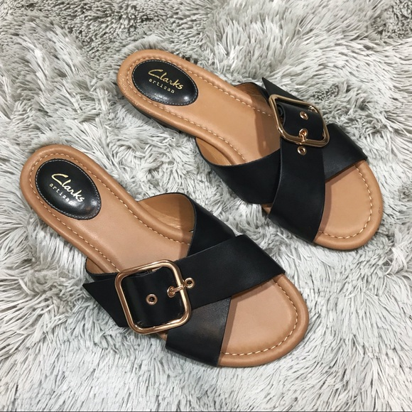 0e832dd0c7dd5 Clarks Shoes - Clarks Viveca Gwen Leather Cross Strap Sandals